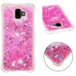 Glitter Powder Quicksand Shockproof TPU Gel Case for Samsung Galaxy J6 Plus J610F / J6 Prime – Rose