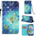 Light Spot Decor Pattern Printing Leather Cover for Samsung Galaxy J6 Plus J610F / J6 Prime – Butterflies