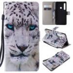 Patterned Wallet Stand Magnetic Leather Flip Mobile Case for Samsung Galaxy A9 (2018) / A9 Star Pro / A9s – Leopard Face