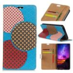 Pattern Printing Wallet Leather Protection Casing for Sony Xperia XA3 – Seamless Circles Pattern