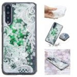 Embossment Pattern Quicksand TPU Phone Case for Huawei P20 Pro – Lace Flower Pattern