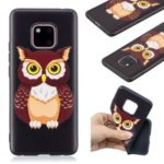 Pattern Printing Embossed TPU Case for Huawei Mate 20 Pro – Brown Owl