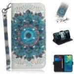 For Huawei Mate 20 Pattern Printing Leather Wallet Phone Case – Mandala Flower
