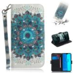 Pattern Printing Wallet Leather Magnetic Case for Huawei Y9 (2019) / Enjoy 9 Plus – Mandala Flower