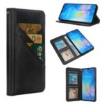 Flip Wallet Stand Leather Phone Case for Huawei Mate 20 – Black