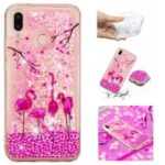 Dynamic Glitter Powder Heart Shaped Sequins Shockproof TPU Case for Huawei P20 Lite / Nova 3e (China) – Flamingo