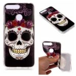 Pattern Printing Matte Surface IMD TPU Phone Cover Case for Honor 7A (with Fingerprint Sensor) / Honor 7A Pro / Enjoy 8e – Skull
