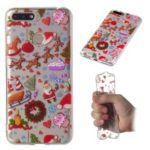 Christmas Pattern Printing TPU Jelly Mobile Case for Huawei Honor 7A Pro / Honor 7A (with Fingerprint Sensor) / Enjoy 8e – Christmas Elements