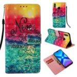 Light Spot Decor Pattern Printing PU Leather Case Cover with Card Holder for Huawei Honor 8X – Never Stop Dreaming
