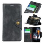 PU Leather Flip Case with Wallet Stand for Motorola Moto G7 – Black