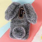 Rabbit Shape Warm Fur TPU Back Casing for Xiaomi Pocophone F1 / Poco F1 (India) – Dark Grey