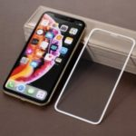 For iPhone XS Max 6.5 inch Tempered Glass Screen Protector [Full Size] [9D] [Alignment Frame] – White