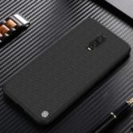 NILLKIN Textured Anti-fingerprint PC TPU Hybrid Mobile Phone Case for OnePlus 6T – Black