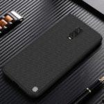 NILLKIN Textured Anti-fingerprint PC TPU Hybrid Mobile Phone Case for OnePlus 6T – Black