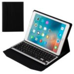 Removable Bluetooth Keyboard Leather Smart Case for iPad 9.7 (2018) / 9.7 (2017) / Pro 9.7 inch (2016) / Air 2 / Air  – Black