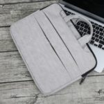 SOYAN Tree Bark Texture PU Leather Handbag for 15-inch Macbook Notebooks – Grey