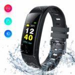 i6HR-C Multifunctional Smart Sleeping Heart Rate Blood Pressure Monitor Wristband – All Black