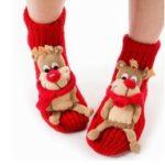 Lovely 3D Cartoon Decor Thick Floor Slipper Socks Soft Warm Winter Socks for Adults – Elk