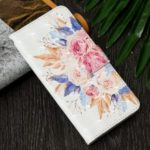 Patterned Light Spot Decor Leather Wallet Case for Samsung Galaxy J6 (2018) – Fresh Flower
