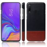 KSQ Bi-color Splicing PU Leather Coated PC Phone Cover for Samsung Galaxy A8s