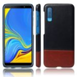 KSQ Bi-color Splicing PU Leather Coated PC Case for Samsung Galaxy A7 (2018)