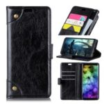 Nappa Texture Wallet Flip Leather Cell Phone Case for Huawei Y7 (2019) – Black