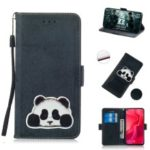 Vintage Pattern Printing PU Leather Phone Cover with Card Holder for Huawei nova 4 – Dark Blue