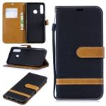 Assorted Color Jeans Cloth Wallet Leather Case for Huawei P30 Lite – Black