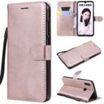 Wallet Stand Leather Case with Strap for Huawei Honor 10 Lite / P Smart (2019) – Rose Gold