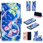 For Huawei Mate 20 Pro Patterned Leather Phone Casing [Stand Wallet] [Light Spot Decor] – Butterfly and Heart