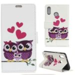 Pattern Printing Wallet Leather Case for Xiaomi Redmi Note 7 – Sweet Owl Family