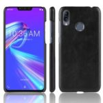 Litchi Texture PU Leather Coated Plastic Mobile Case for Asus Zenfone Max (M2) ZB633KL – Black