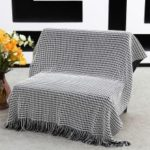 AMORUS Single Side Air Conditioning Carpet Casual Knit Sofa Blanket, Size: 1.3×1.6m