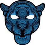 Sound Reactive LED Masks Halloween Glowing Ball Mask – Style 4