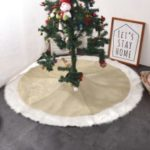 3D Christmas Plush Long Haired Tree Skirts Xmas Party Decor – 36 inches