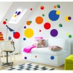 Colorful Circle Romantic Beautiful Removable Wall Stickers DIY Room Decor Decal
