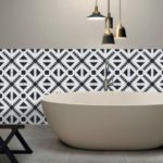 196 x 8 inches PVC Waterproof Self-adhesive 3D Black White Tile Wallpaper Home Decor – Style A