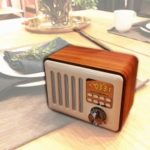 Retro Style Multifunctional Bluetooth Speaker with Mic Support TF Card/USB Drive/AUX-in/FM Radio