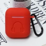 Silicone Case for Apple AirPods Bluetooth Headset Charging Case – Red