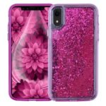 For iPhone XR 6.1 inch Dynamic Liquid Glitter Powder PC TPU Protective Case – Rose