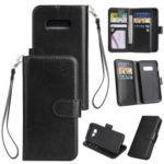 9-slot PU Leather Wallet Stand Phone Cover for Samsung Galaxy S10e – Black