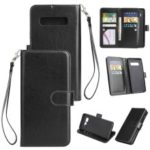 9-slot PU Leather Wallet Stand Case for Samsung Galaxy S10 Plus – Black