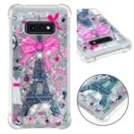 Dynamic Glitter Powder Heart Shaped Sequins TPU Cover for Samsung Galaxy S10e – Eiffel Tower and Bowknot