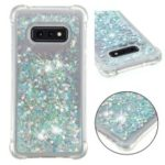 Dynamic Glitter Powder Heart Shaped Sequins TPU Shockproof Case for Samsung Galaxy S10e – Green