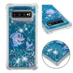 Dynamic Glitter Powder Heart Shaped Sequins TPU Case for Samsung Galaxy S10 – Dolphin