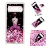 Moving Glitter Powder Sequins Patterned TPU Case for Samsung Galaxy S10 – Pretty Girl's Back