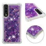 For Huawei P30 Protection Case Glitter Powder Quicksand Shockproof TPU Case – Dark Purple