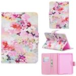 Pattern Printing Leather Wallet Stand Case for Amazon Kindle Paperwhite 4/3/2/1 – Pretty Flowers