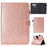 Glitter Powder Stand Leather Case with Card Slots for Amazon Kindle Paperwhite 4 (2018) – Rose Gold