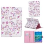 Universal Patterned Leather Wallet Case for iPad 9.7-inch/Galaxy Tab S2 9.7 – Unicorn and Star
